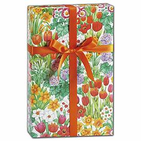 """Bags & Bows by Deluxe The Cutting Garden Gift Wrap, 24"""" x 100'"""