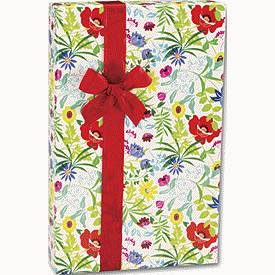 """Bags & Bows by Deluxe Summer Garden Gift Wrap, 24"""" x 417'"""