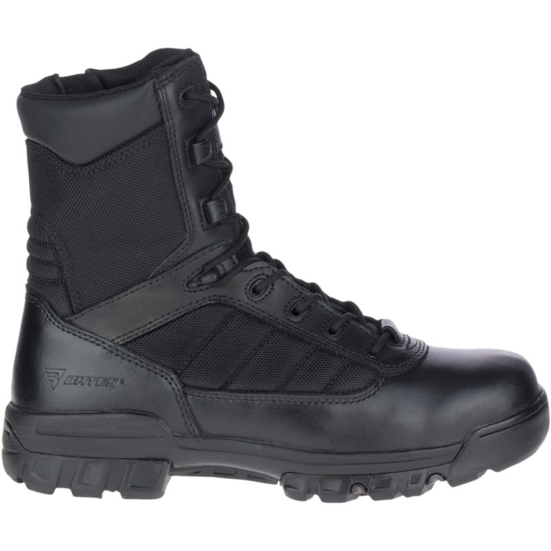 "Bates Men's 8"" Tactical Sport Side Zip Boot Size: 7.5M, Black"