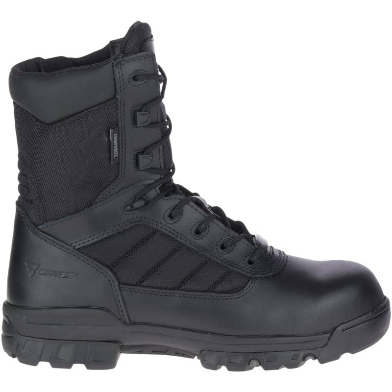 """Bates Men's 8"""" Tactical Sport Composite Toe Side Zip Boot Size: 10.5M, Black"""