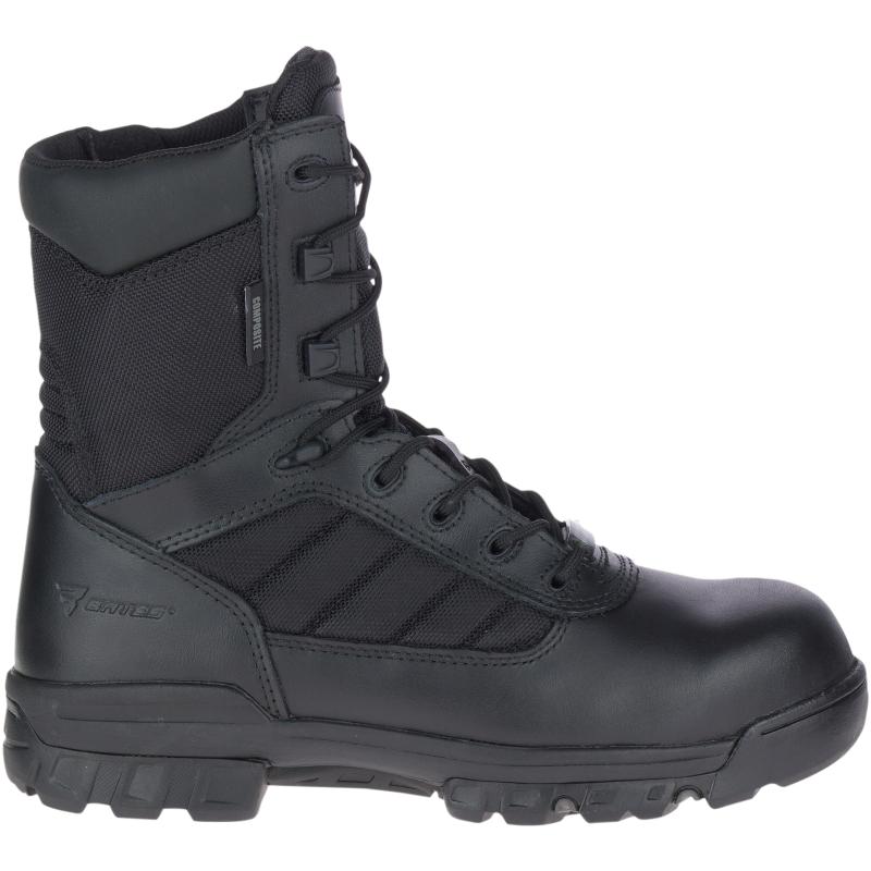 """Bates Men's 8"""" Tactical Sport Composite Toe Side Zip Boot Size: 10M, Black"""