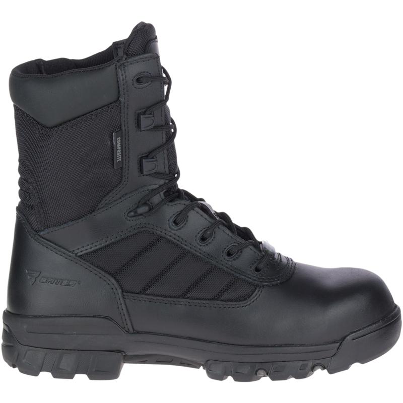 """Bates Men's 8"""" Tactical Sport Composite Toe Side Zip Boot Size: 5.5M, Black"""