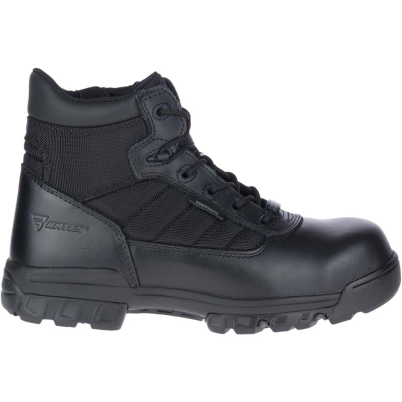 """Bates Men's 5"""" Tactical Sport Composite Toe Side Zip Boot Size: 10.5M, Black"""