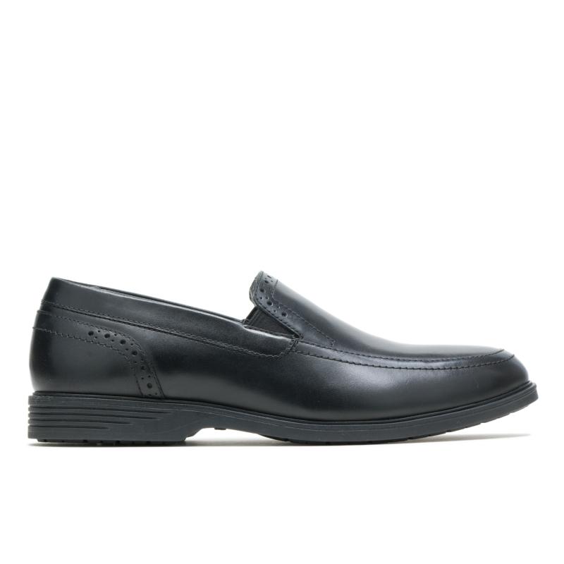 Hush Puppies Men's Shepsky Slip-On Size: 10.5M, Black Leather
