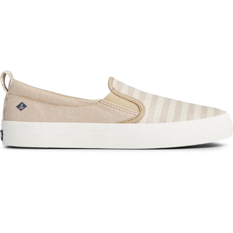 Sperry Top-Sider Crest Twin Gore Slip On Sneaker Size: 9M, Oat/Tan