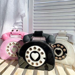 OUCHA Patent Phone Crossbody Bag