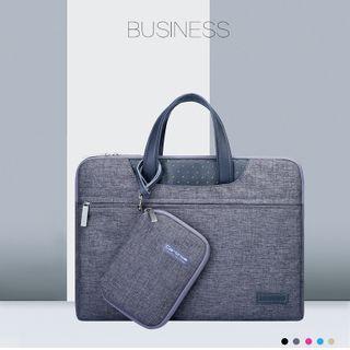 Simkim Set: Laptop Briefcase + Zip Accessory Pouch + Light Scarf