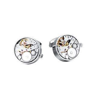 BELEC High-end Fashion Punk Rotatable Movement Cufflinks Silver - One Size