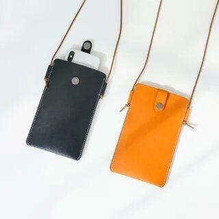 Mango Fish Genuine Leather Crossbody Phone Pouch