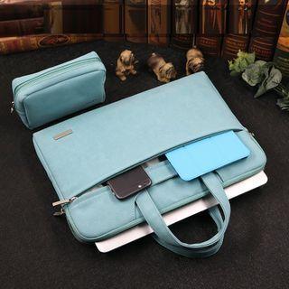 Simkim Laptop Briefcase / Zip Accessory Pouch / Set