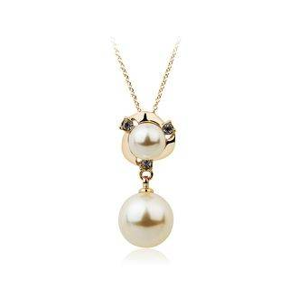 BELEC Short Pendant with Fashion Pearl and Necklace