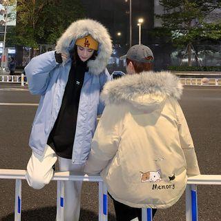 MOGARA Couple Matching Car Print Hooded Zip-Up Jacket