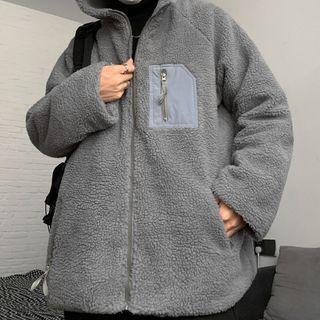Malnia Home Couple Matching Hooded Fleece Zip Jacket