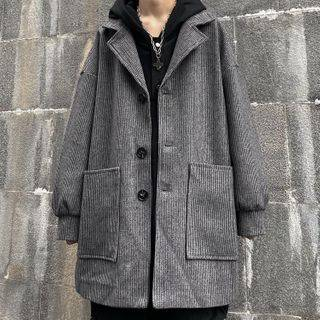 Malnia Home Couple Matching Pocket Plain Coat