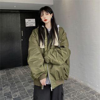 Malnia Home Hooded Bomber Jacket