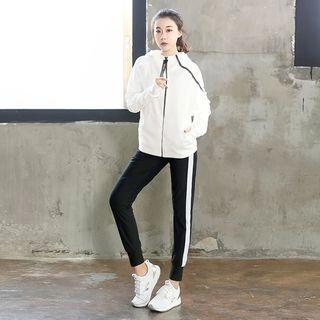Zosia Sport Set: Hooded Zip Jacket + Sweatpants