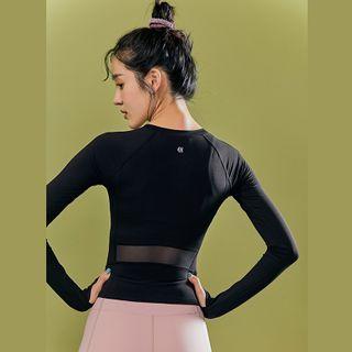 Sylphlike Loli Mesh Panel Long-Sleeve Sports T-Shirt