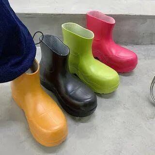 SouthBay Shoes Platform Rain Boots