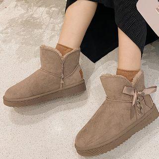 SouthBay Shoes Lace Up Platform Short Snow Boots