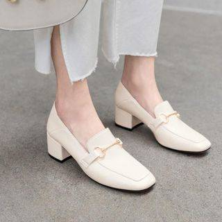 JY Shoes Chunky-Heel Loafers