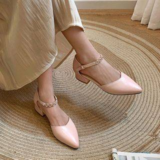 Shoes Galore Ankle Strap Low-Heel Sandals