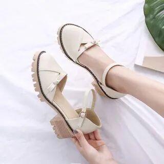Shoes Galore Platform Block Heel Ankle Strap DOrsay Pumps