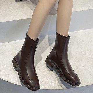 Queenie's Home Block Heel Short Boots