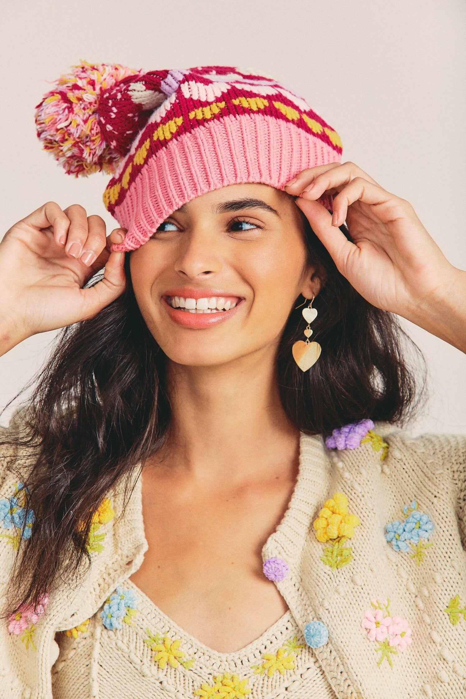 SHANTOU BINLI WEAVING CO. Women's Hastings Pompom Hat
