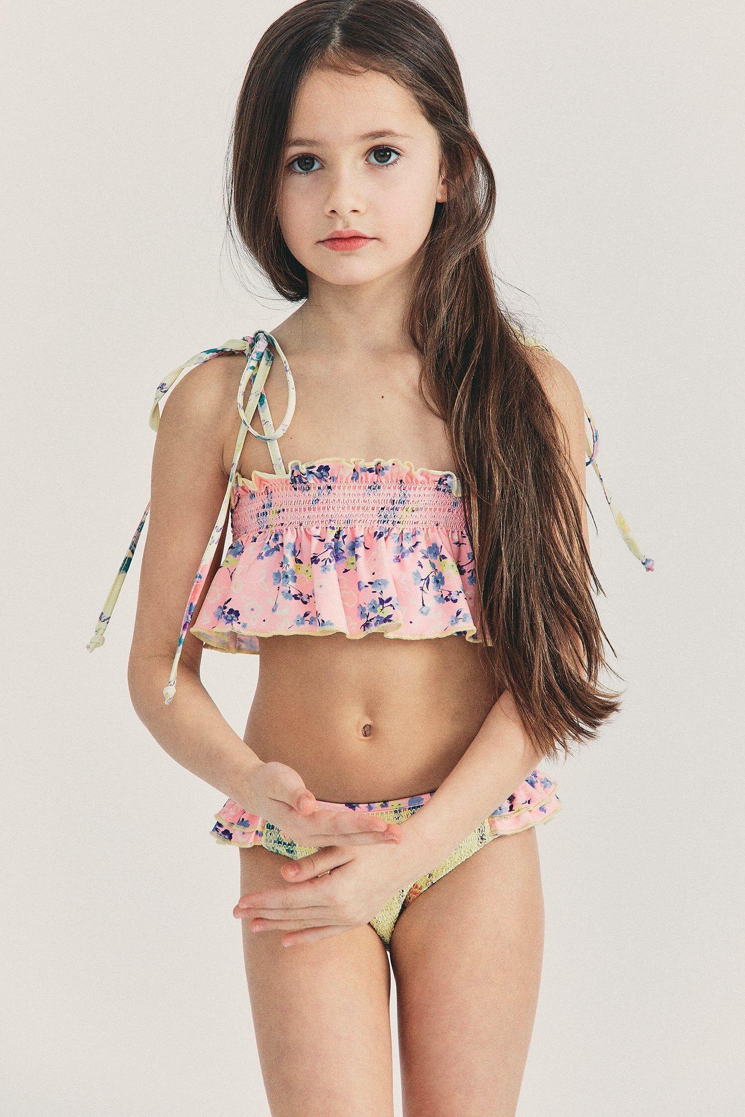 SHANGHAI FEI CHUAN IMP. & Women's Girls Peach Bikini Set