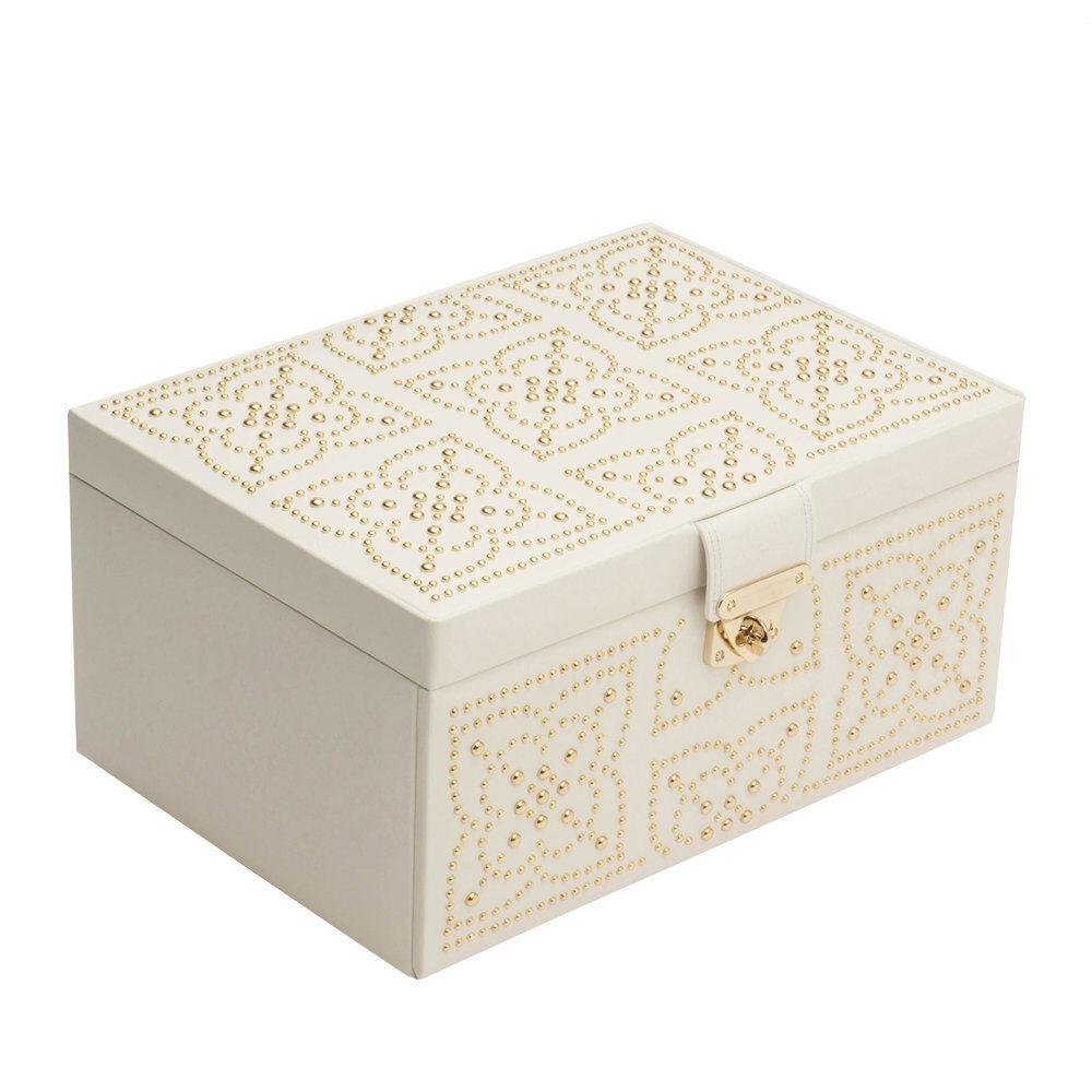 Wolf - Marrakesh Medium Jewelry Box - Cream