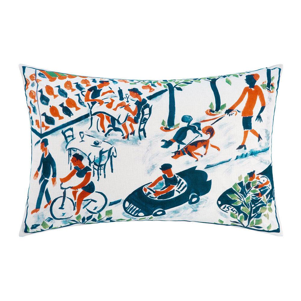 William Yeoward - The Blue Car Pillow - 60x40cm