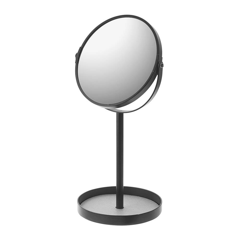 Yamazaki - Tower Cosmetic Mirror With Accessory Tray - Black