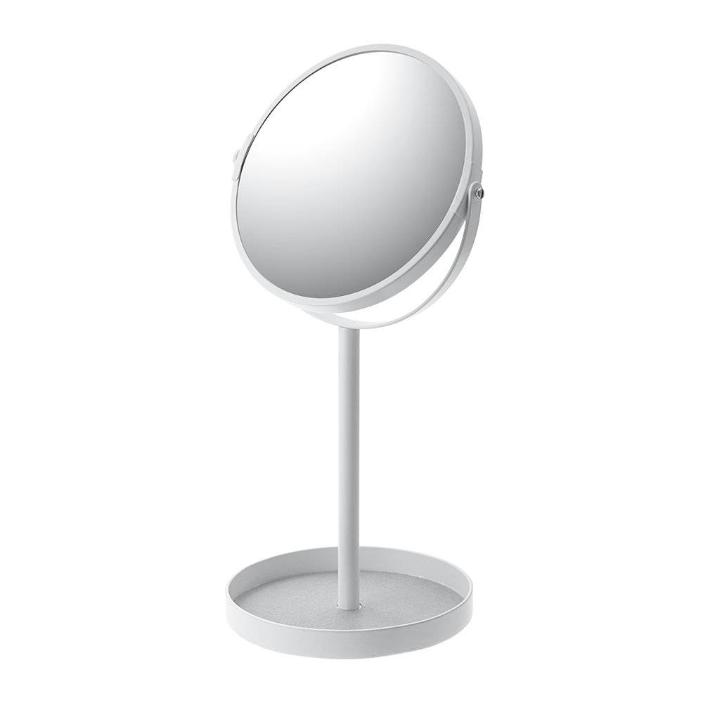 Yamazaki - Tower Cosmetic Mirror With Accessory Tray - White