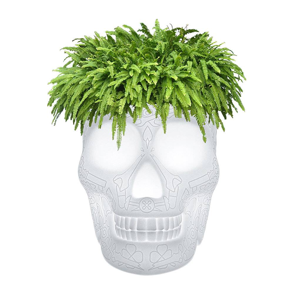 Qeeboo - Mexico Skull LED Outdoor Planter