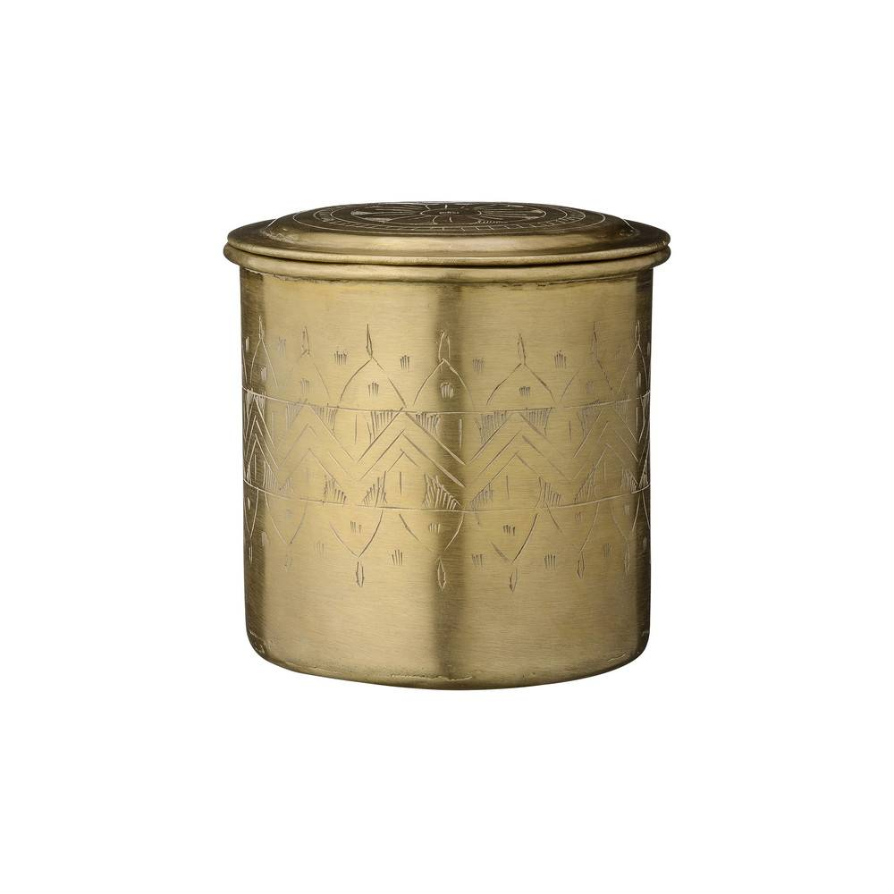 Day Birger Et Mikkelsen Home - Carved Brass Can with Lid - 12x11.5cm