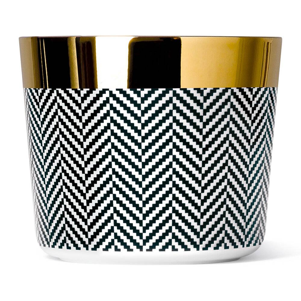 Sieger by Furstenberg - Sip of Gold Fashion Collection Champagne Goblet - Herringbone