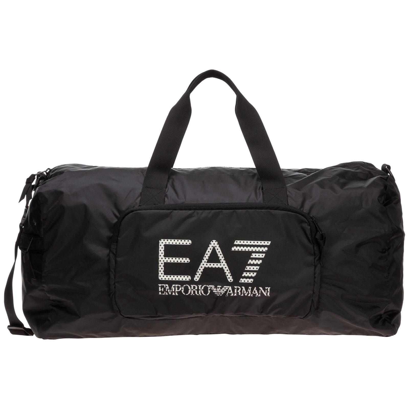 Emporio Armani Men's fitness gym sports shoulder bag nylon  - Black