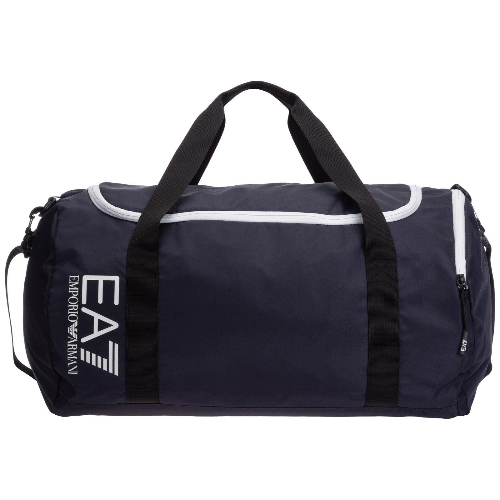 Emporio Armani Men's fitness gym sports shoulder bag  - Blue