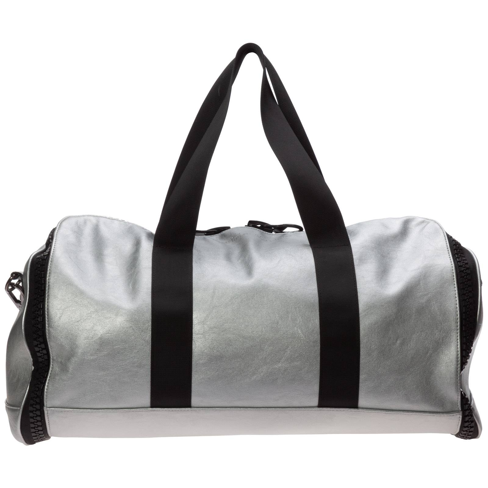 Frankie Morello Men's fitness gym sports bag  - Silver