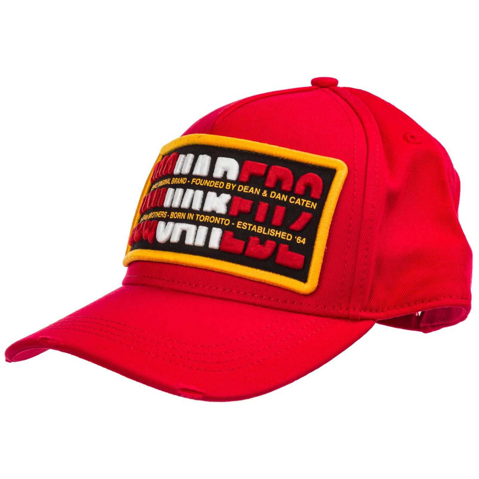 Dsquared2 Adjustable men's cotton hat baseball cap  - Red