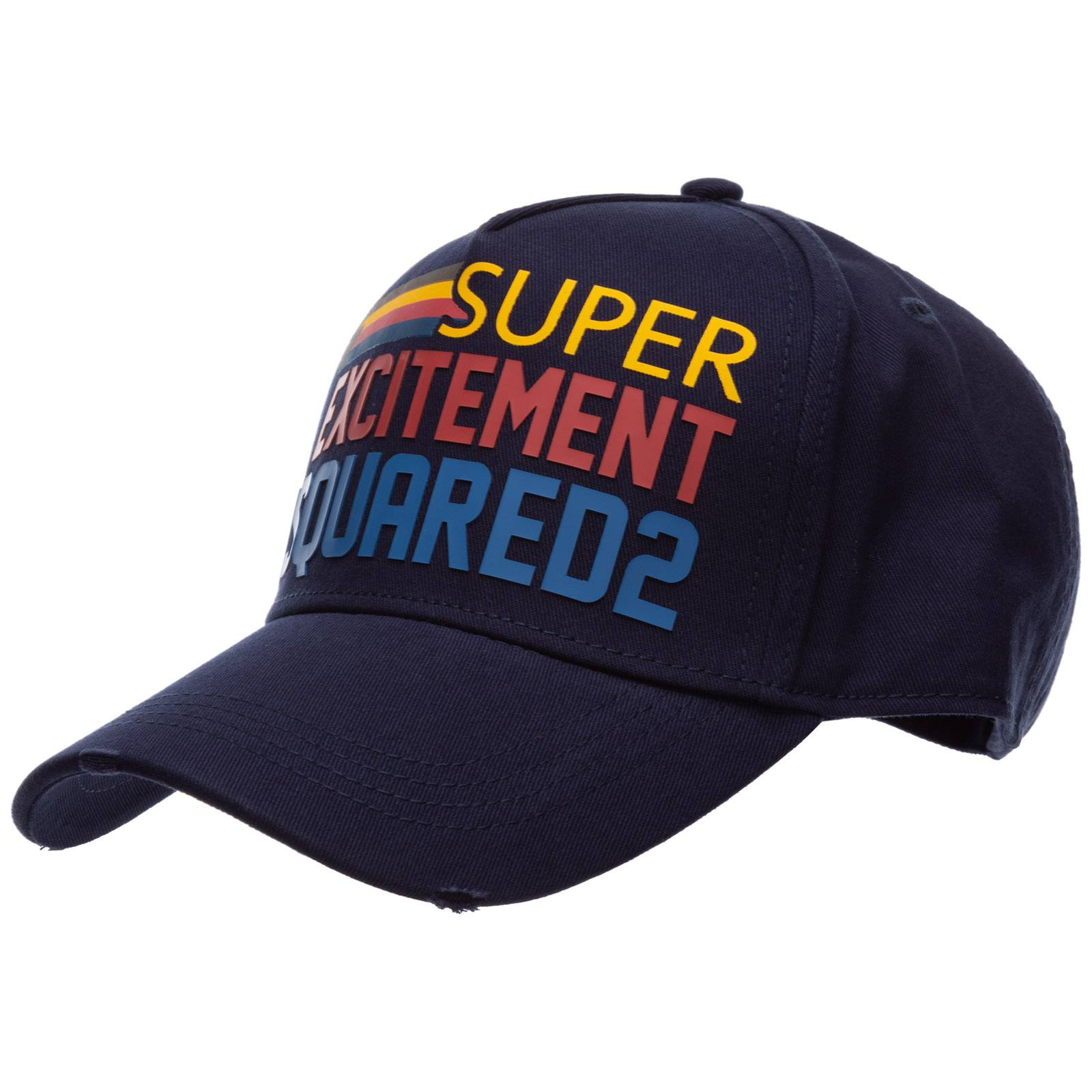 Dsquared2 Adjustable men's cotton hat baseball cap baseball  - Blue