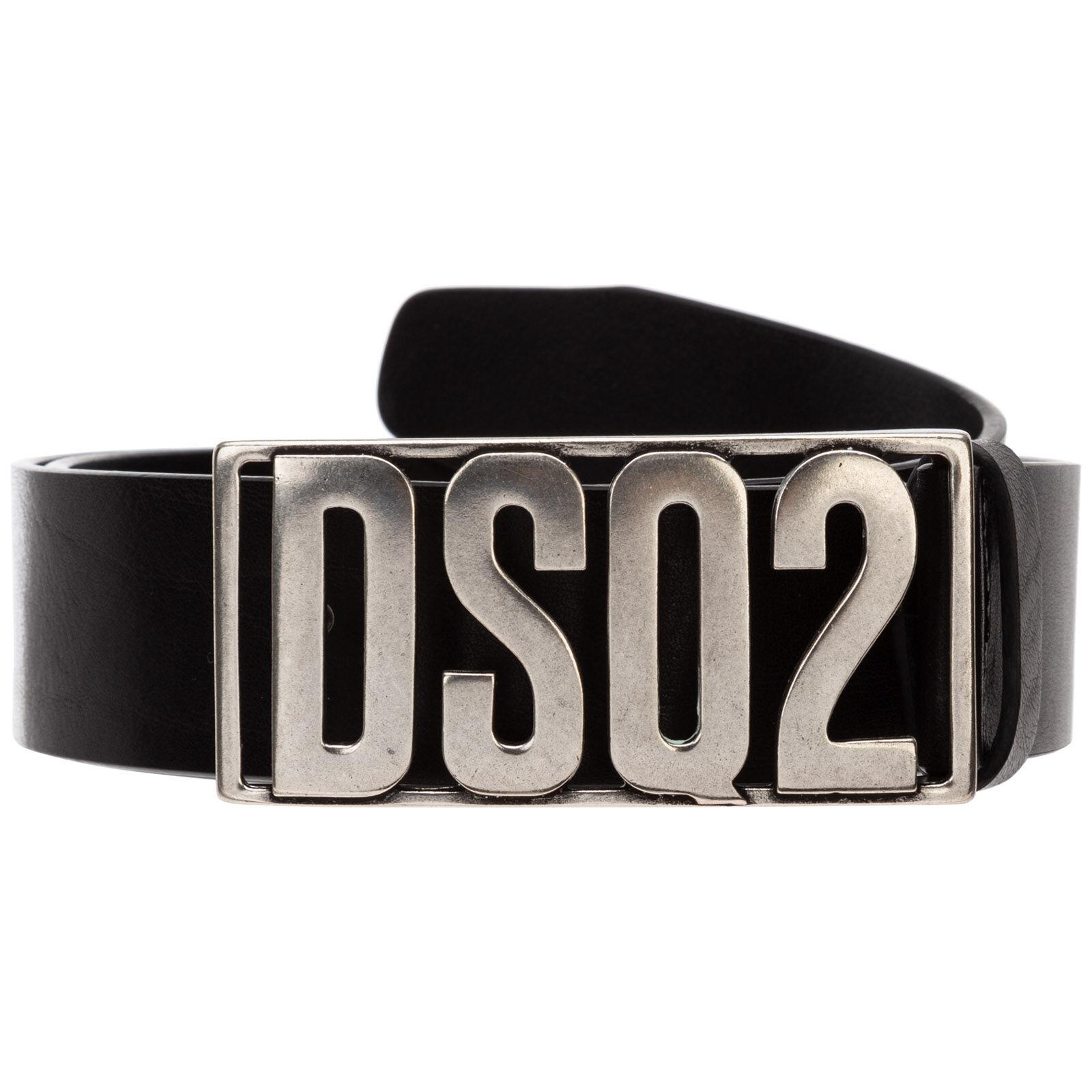 Dsquared2 Men's genuine leather belt  - Black - Size: 95
