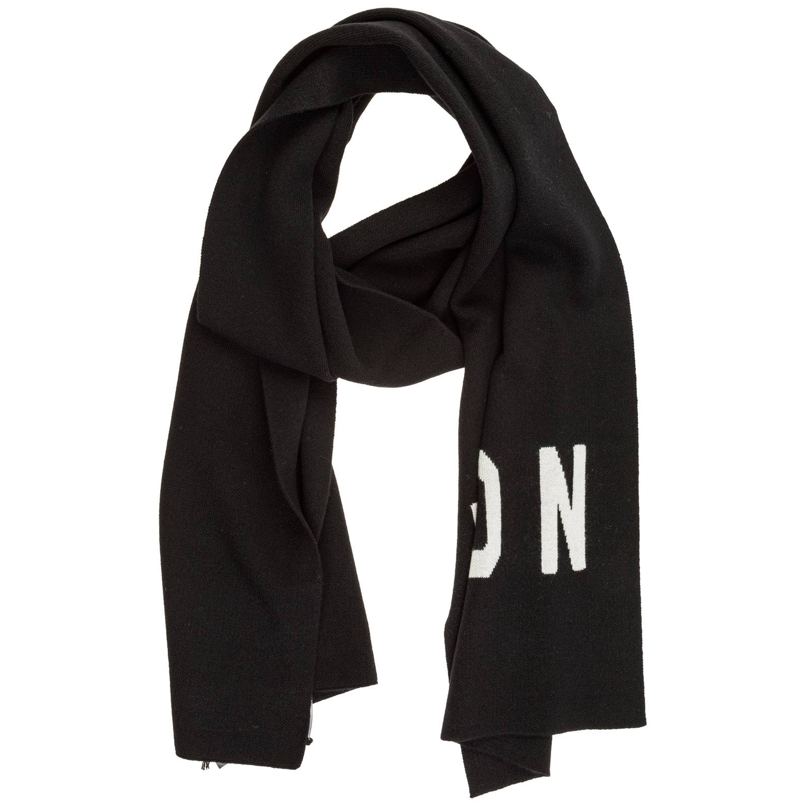 Dsquared2 Men's wool scarf icon  - Black