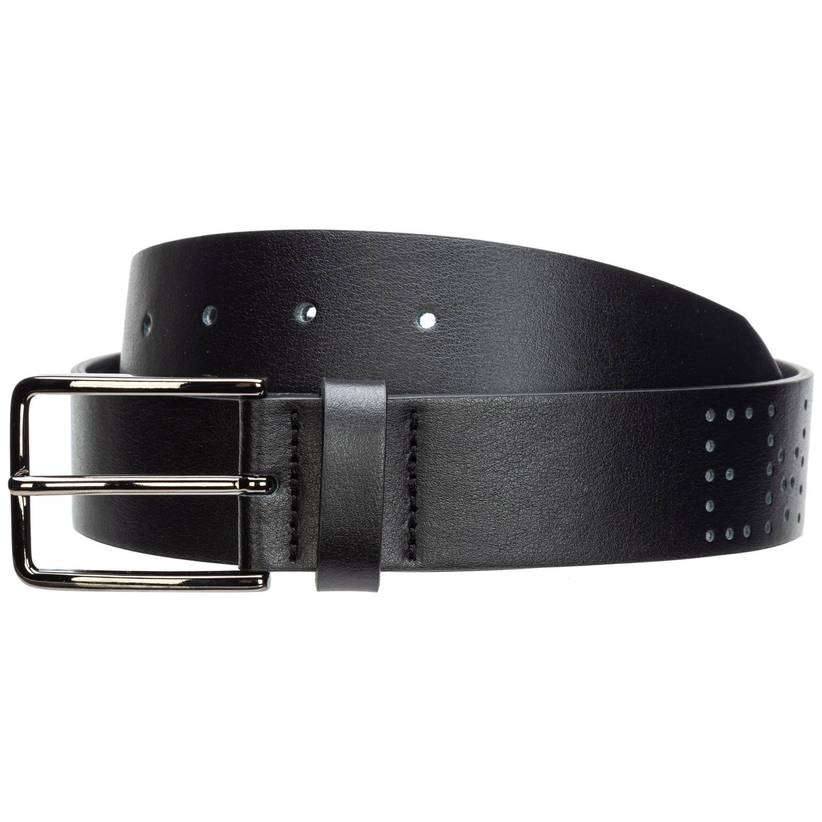 Emporio Armani Men's genuine leather belt  - Black - Size: 90