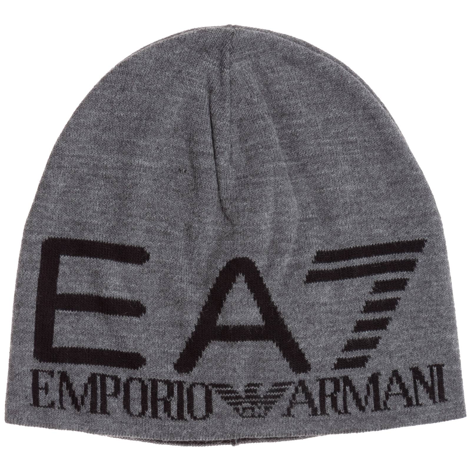 Emporio Armani Men's beanie hat  - Grey - Size: Medium