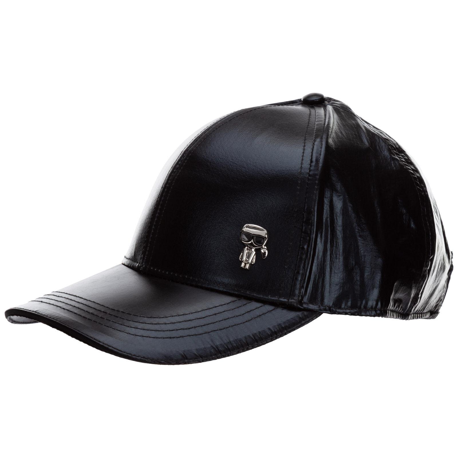 Karl Lagerfeld Adjustable women's hat baseball cap k/ikonik 3d  - Black
