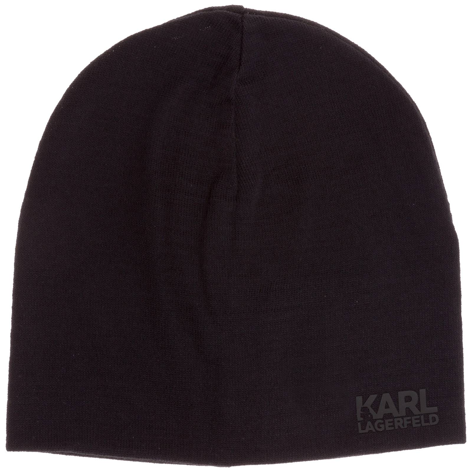 Karl Lagerfeld Men's beanie hat  - Black - Size: Medium