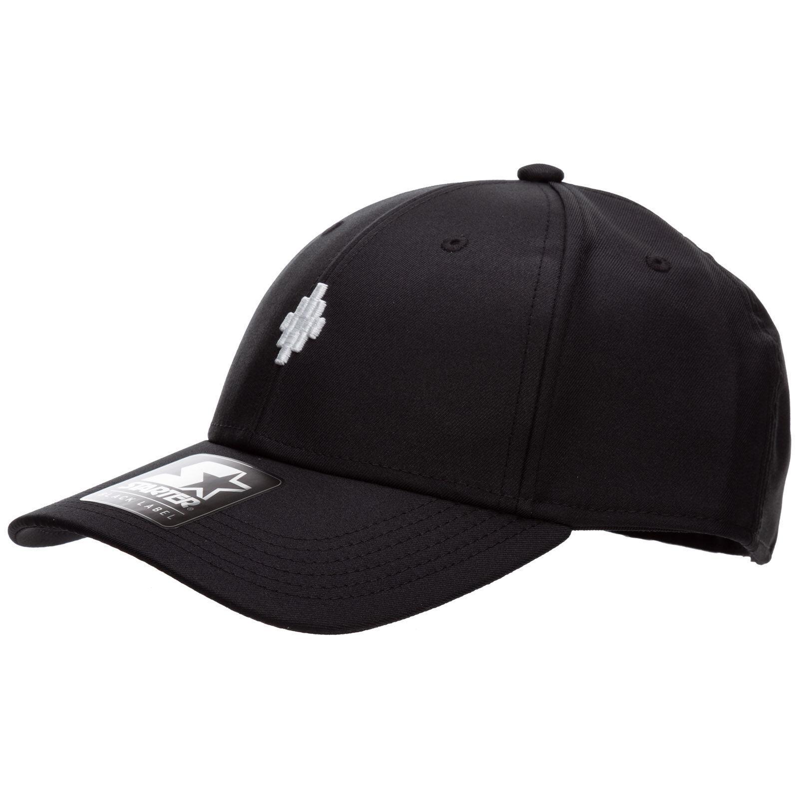 Marcelo Burlon Adjustable men's hat baseball cap cross  - Black