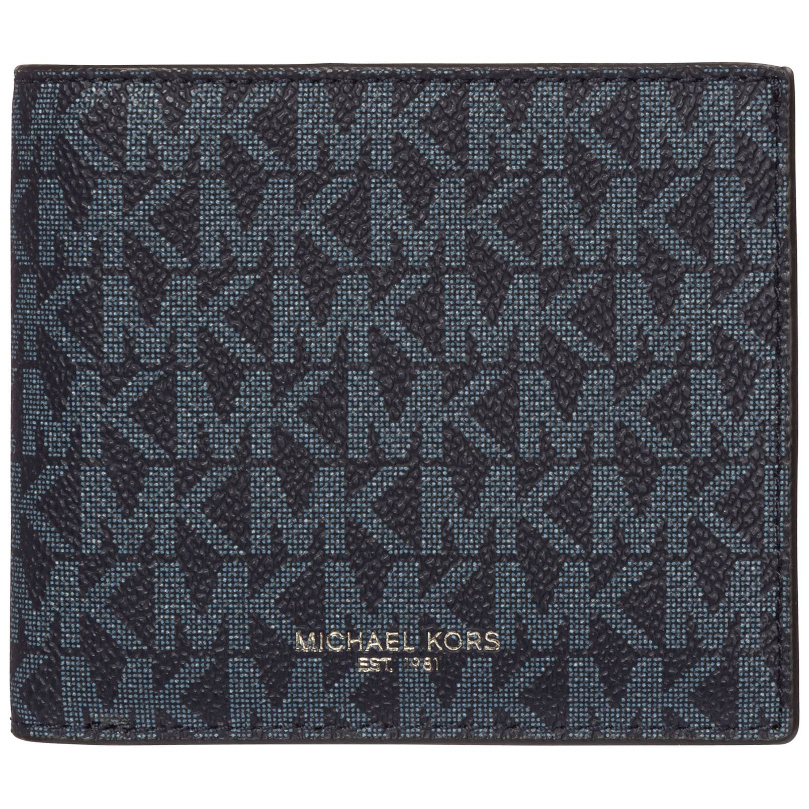 Michael Kors Men's wallet credit card bifold greyson  - Blue