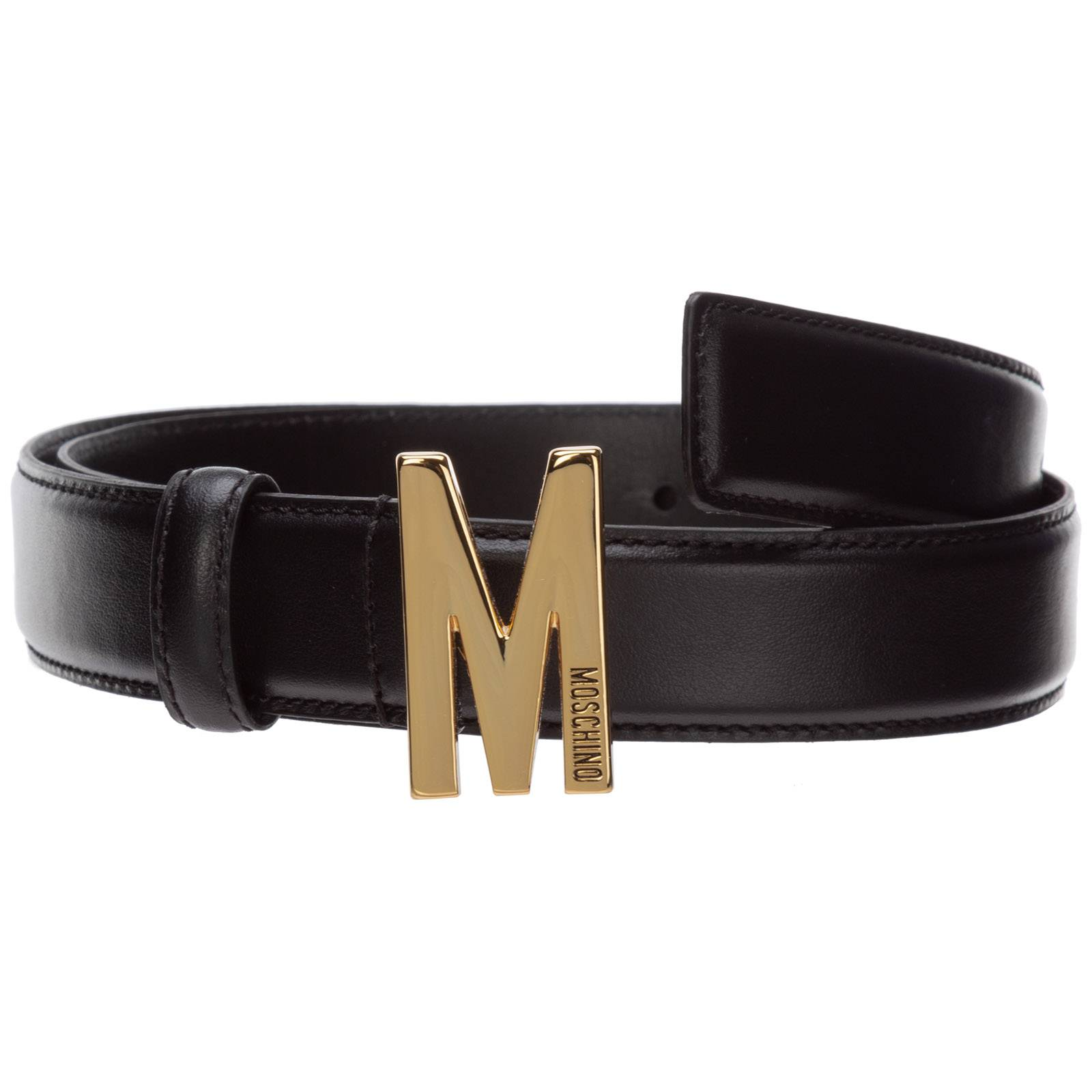 Moschino Women's genuine leather belt m  - Black - Size: 44